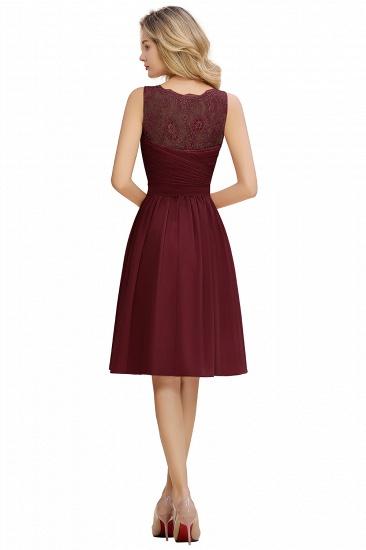 BMbridal A-line Chiffon Ruffle Bridesmaid Dress Sleeveless Lace Homecoming Dress_18