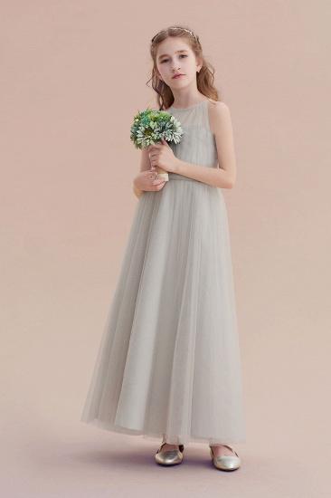BMbridal A-Line Chic Ankle Length Tulle Flower Girl Dress Online_5