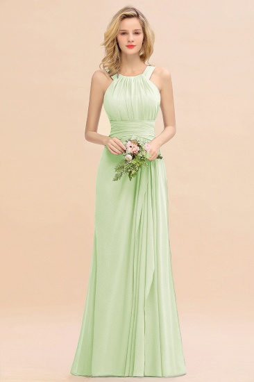 Elegant Round Neck Sleeveless Stormy Bridesmaid Dress with Ruffles_35