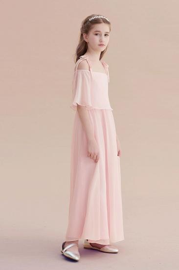 BMbridal A-Line Cold-shoulder Chiffon Flower Girl Dress Online_4