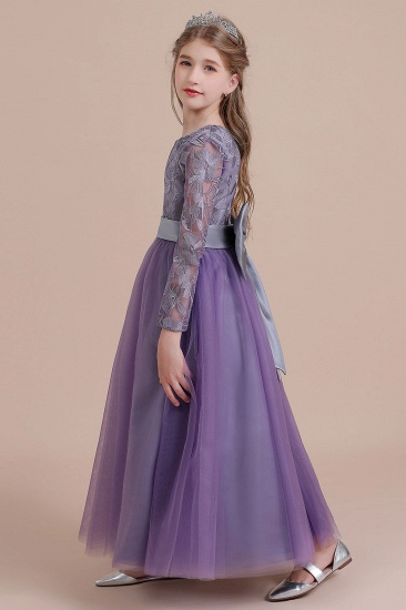 BMbridal A-Line Long Sleeve Ankle Length Flower Girl Dress On Sale_6