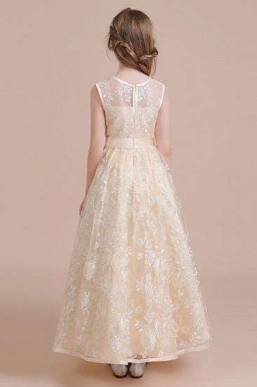 BMbridal A-Line Amazing Lace Tulle Flower Girl Dress Online_3