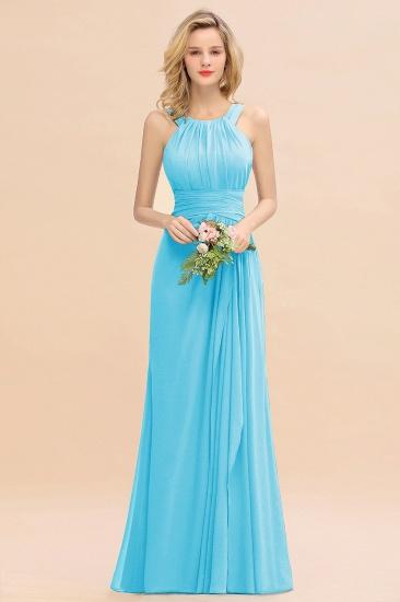 BMbridal Elegant Round Neck Sleeveless Stormy Bridesmaid Dress with Ruffles_24
