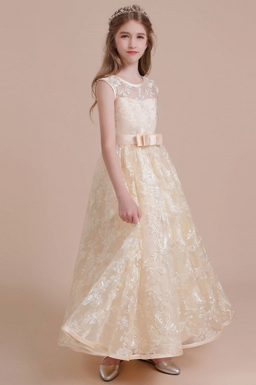 BMbridal A-Line Amazing Lace Tulle Flower Girl Dress Online_5