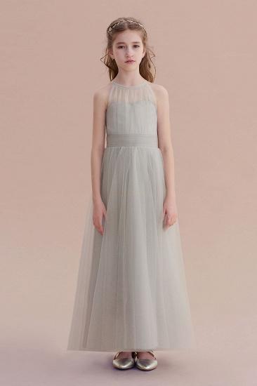 BMbridal A-Line Chic Ankle Length Tulle Flower Girl Dress Online_1