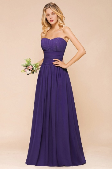 BMbridal Affordable Sweetheart Sequins Regency Bridesmaid Dress with Pleats_8