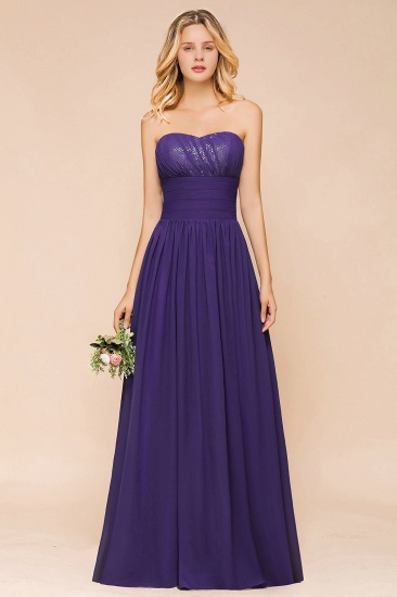 Affordable Sweetheart Sequins Regency Bridesmaid Dress