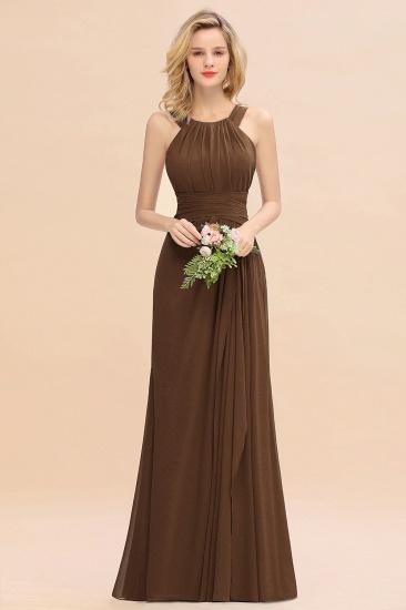 BMbridal Elegant Round Neck Sleeveless Stormy Bridesmaid Dress with Ruffles_12