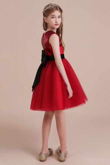 BMbridal A-Line Graceful Sequins Tulle Flower Girl Dress Online_7