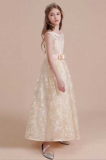 BMbridal A-Line Amazing Lace Tulle Flower Girl Dress Online_6