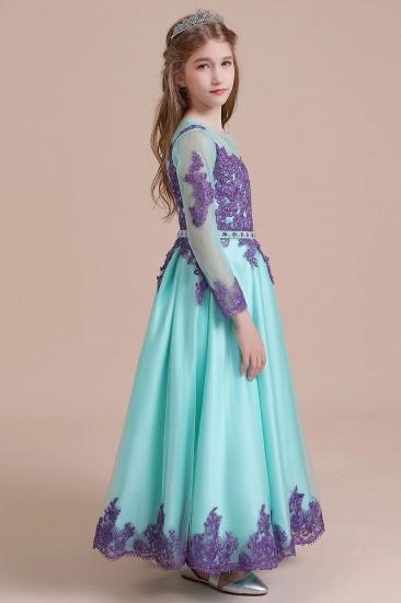 BMbridal A-Line Chic Long Sleeve Appliques Flower Girl Dress Online_7