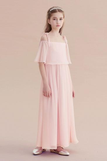 BMbridal A-Line Cold-shoulder Chiffon Flower Girl Dress Online_5