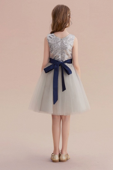 BMbridal A-Line Elegant Sequins Tulle Flower Girl Dress On Sale_3