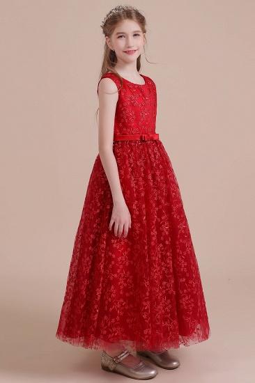 BMbridal A-Line Elegant Ankle Length Tulle Flower Girl Dress Online_5