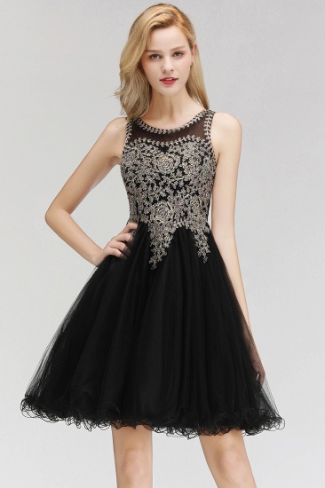 BMbridal A-line Tulle Lace Homecoming Dress with Beadings_3