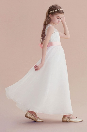 BMbridal A-Line Illusion Lace Tulle Flower Girl Dress Online_6