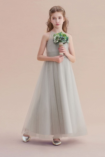 BMbridal A-Line Chic Ankle Length Tulle Flower Girl Dress Online_4