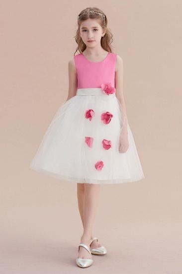 BMbridal A-Line Affordable Tulle Flower Girl Dress Online_7