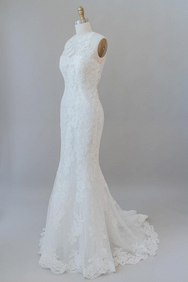 BMbridal Awesome Illusion Lace Mermaid Wedding Dress On Sale_4