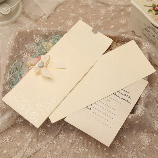 Popular Side Fold Bowknot Style Invitation Cards (Set of 50)_3
