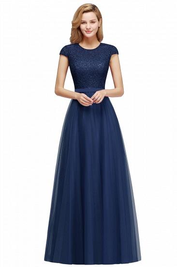 BMbridal A-line Jewel Tulle Lace Bridesmaid Dress_4