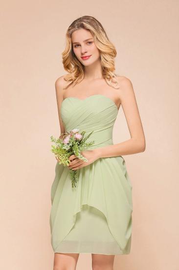 Chic Chiffon Sweetheart Short Bridesmaid Dresses with Ruffle_5