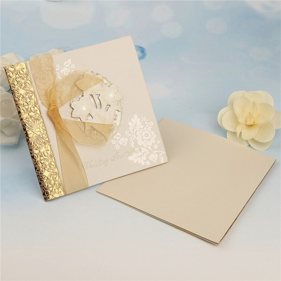 Classic Side-Fold Bowknot Style Hollow Invitation Cards (Set of 50)_3