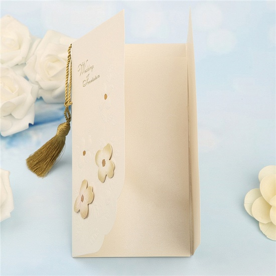 Modern Side-Fold Tassel Import Invitation Cards (Set of 50)_4