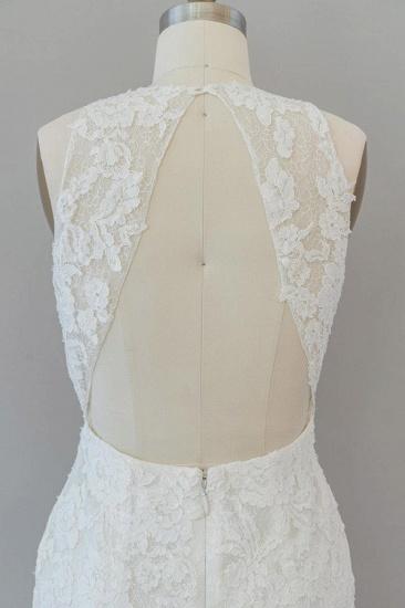 BMbridal Awesome Illusion Lace Mermaid Wedding Dress On Sale_8
