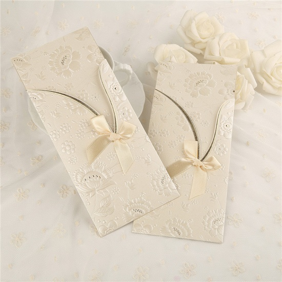 BMbridal Modern Side-Fold Bowknot Invitation Cards (Set of 50)_1