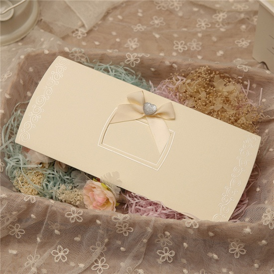 Classic Side-Fold Bowknot Style Invitation Cards (Set of 50)_3