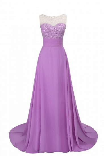 BMbridal Chic Jewel Chiffon Tulle Party Dress with Sequins_7
