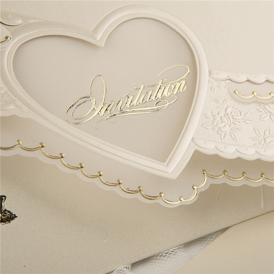BMbridal Modern Tri-Fold Heart Hollow Style Invitation Cards (Set of 50)_6