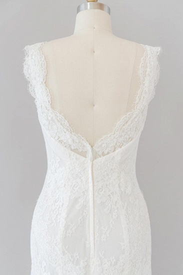 BMbridal Eye-catching Sweetheart Lace Mermaid Wedding Dress On Sale_8