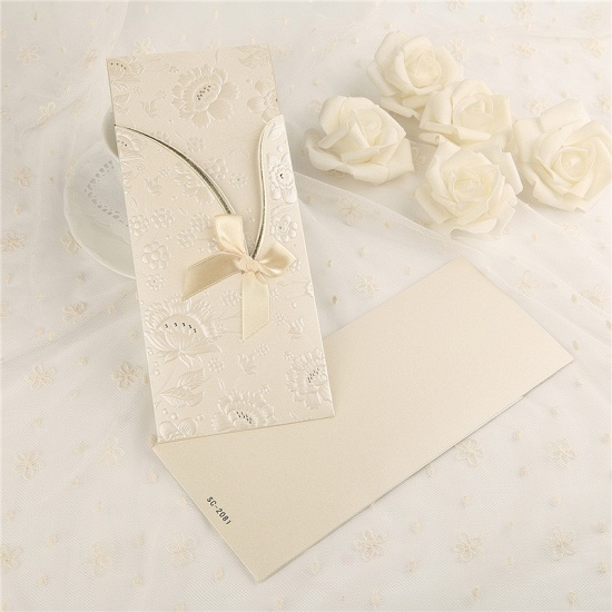 BMbridal Modern Side-Fold Bowknot Invitation Cards (Set of 50)_2