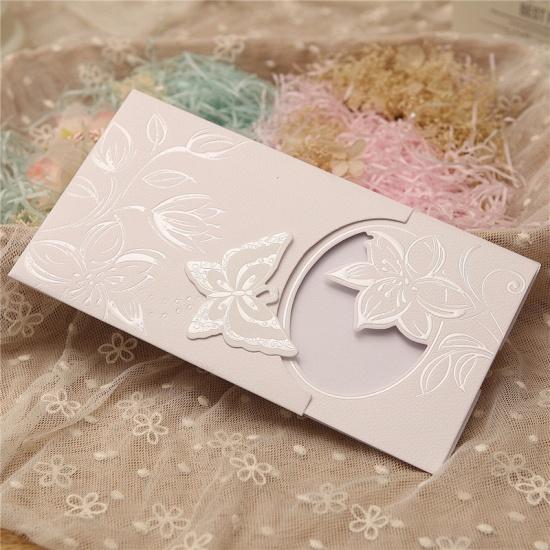 BMbridal Popular Side-Fold Hollow Flower Style Invitation Cards (Set of 50)_2