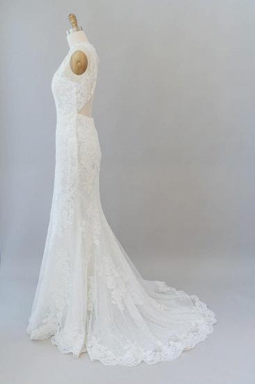 BMbridal Awesome Illusion Lace Mermaid Wedding Dress On Sale_5