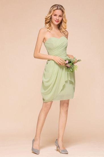 Chic Chiffon Sweetheart Short Bridesmaid Dresses with Ruffle_8