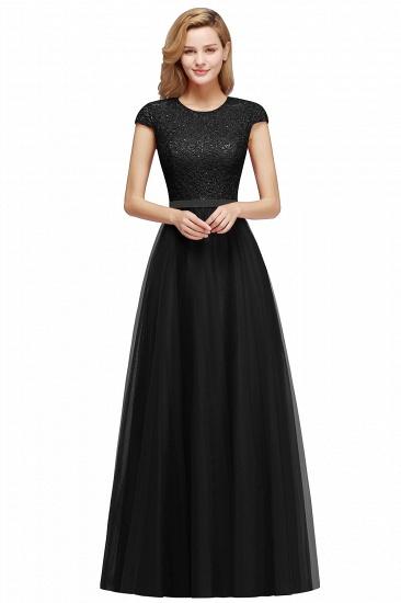 BMbridal A-line Jewel Tulle Lace Bridesmaid Dress_5