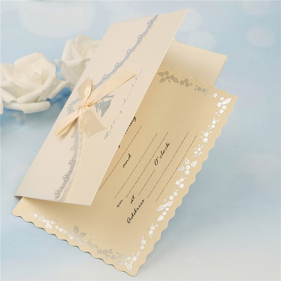 Modern Tri-Fold Bowknot Style Invitation Cards (Set of 50)_4