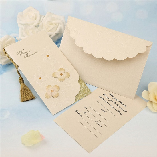 Modern Side-Fold Tassel Import Invitation Cards (Set of 50)_3
