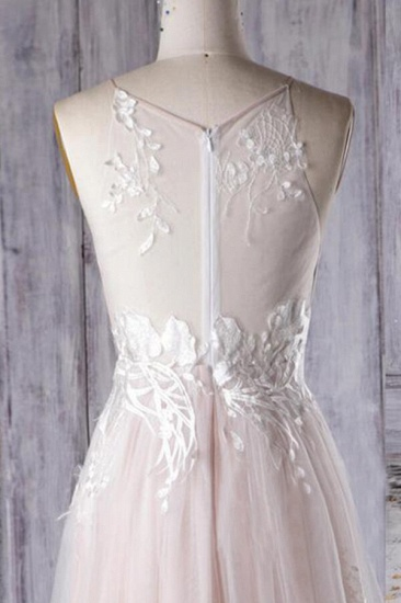 BMbridal Chic Ruffle Floor Length Tulle A-line Wedding Dress Online_6
