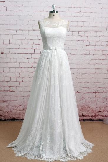 BMbridal Graceful Floor Length Lace A-line Wedding Dress Online_1