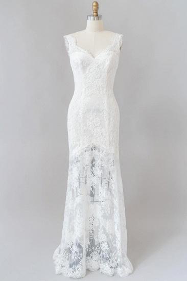 BMbridal Eye-catching Sweetheart Lace Mermaid Wedding Dress On Sale_1