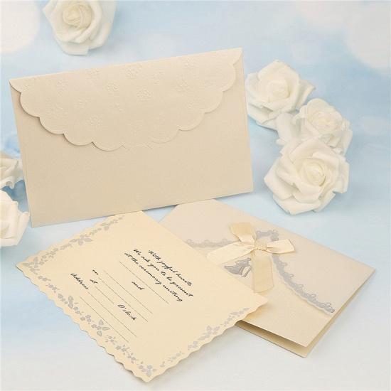 Modern Tri-Fold Bowknot Style Invitation Cards (Set of 50)_3