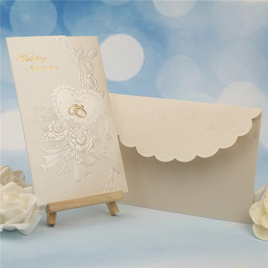 Classic Tri-Fold Imprint Flower Invitation Cards (Set of 50)_2