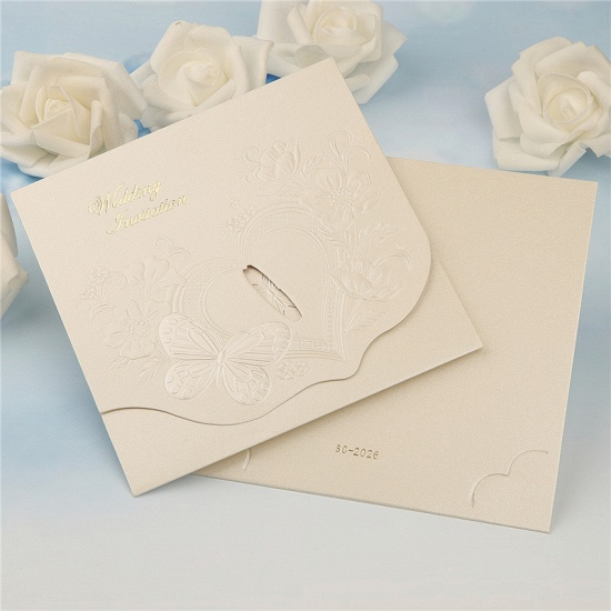 BMbridal Classics Tri-Fold Butterfly Style Invitation Cards (Set of 50)_2