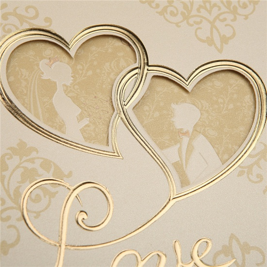 BMbridal Modern Tri-Fold Hollow Heart Style Invitation Cards (Set of 50)_4