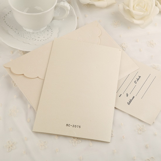 Elegant Tri-Fold Invitation Cards Heart Style (Set of 50)_4