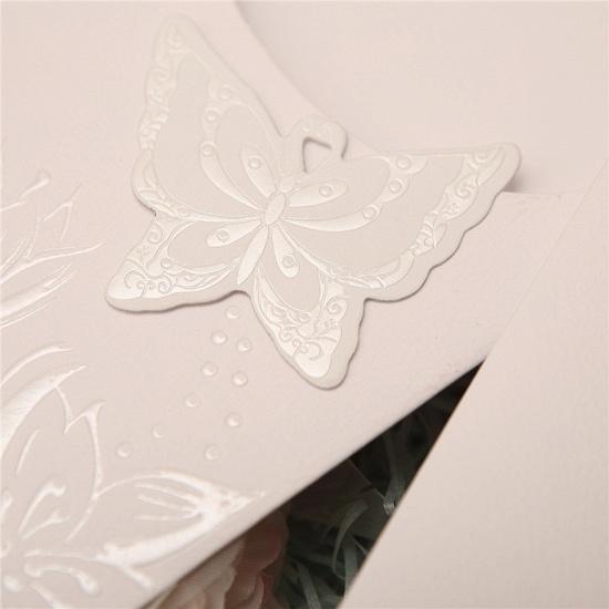 BMbridal Popular Side-Fold Hollow Flower Style Invitation Cards (Set of 50)_4